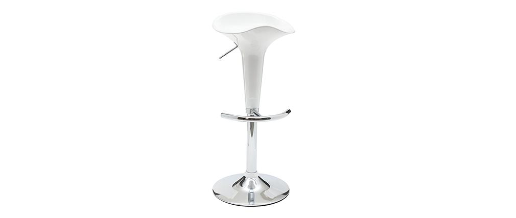 Design-Barhocker / Küchenhocker Weiß GALAXY (2 Stck.)