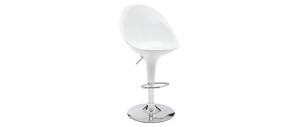 Design-Barhocker / Küchenhocker Weiß OEUF (2 Stck.)