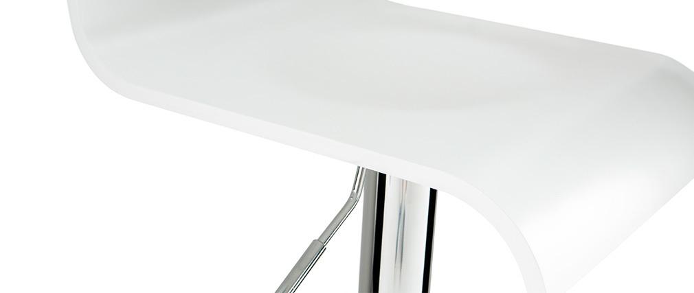 Design-Barhocker / Küchenhocker Weiß SURF