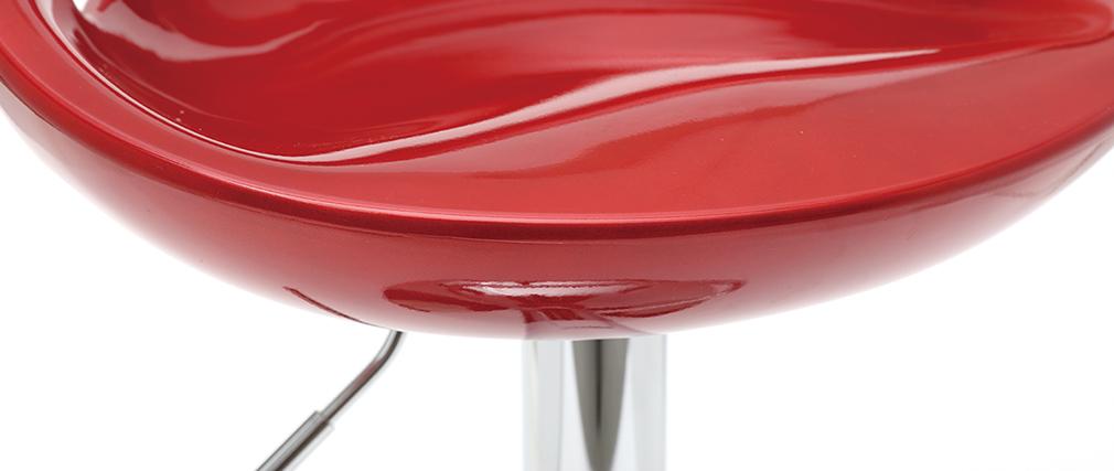 Design-Barhocker / Küchenhocker Weinrot COMET (2 Stck.)