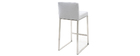 Design-Barhocker Metall und Stoff Hellgrau 66 cm HALEY