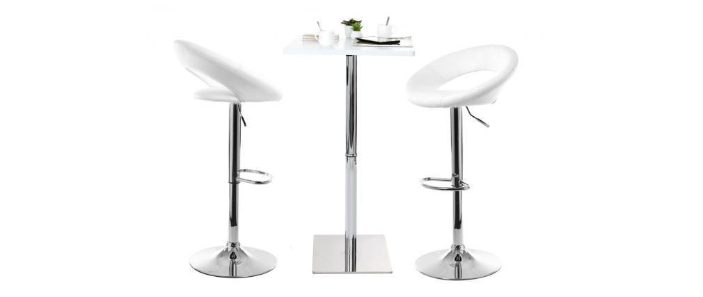 Design-Barhocker NEWTON Weiß
