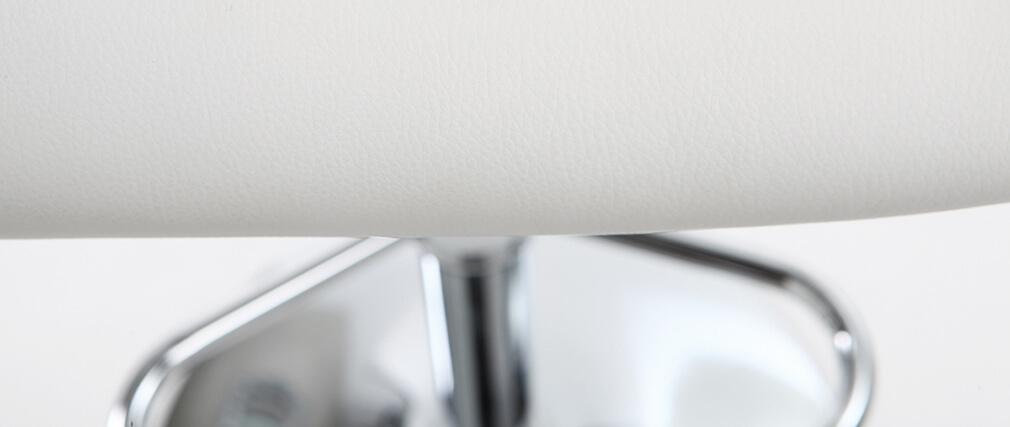 Design-Barhocker Polyurethan Weiß 2er-Set CYRUS