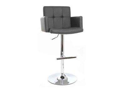 Design-Barhocker PU Grau BLAKE