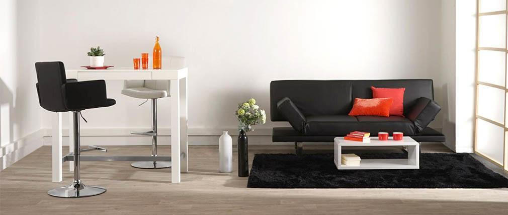 Design-Barhocker PU Schwarz BLAKE