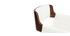 Design-Barhocker PU Weiß und dunkles Holz RAY