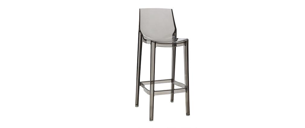 Design-Barhocker Rauchgrau 4er-Set YLAK