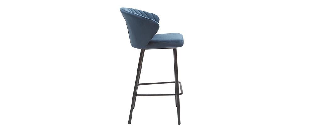 Design-Barhocker Samt Blau Ø 65 cm DALLY