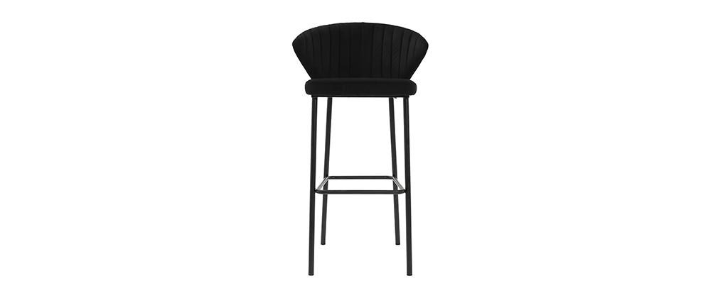 Design-Barhocker Samt Schwarz DALLY 78 cm - Miliboo |1| Stéphane Plaza