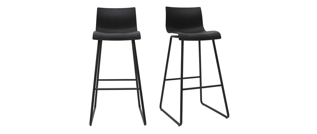 Design-Barhocker Schwarz 76 cm (2er-Set) ONA