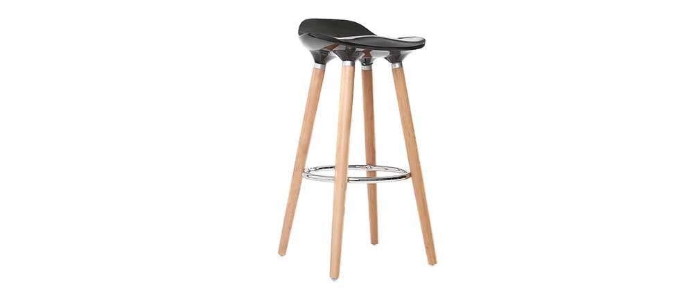 Design-Barhocker Schwarz skandinavisch 2er-Set GILDA