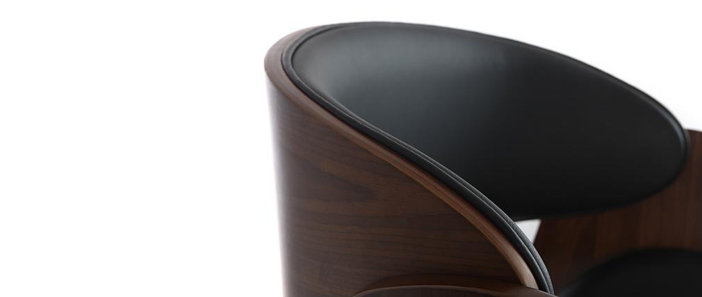 Design-Barhocker Schwarz und Holz DIOS