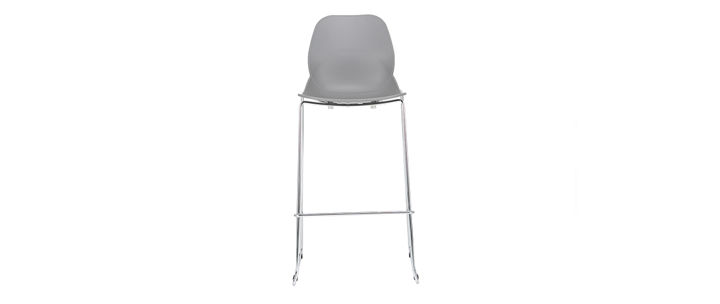 Design-Barhocker stapelbar grau 76,5cm - 2er-Satz TROCADERO