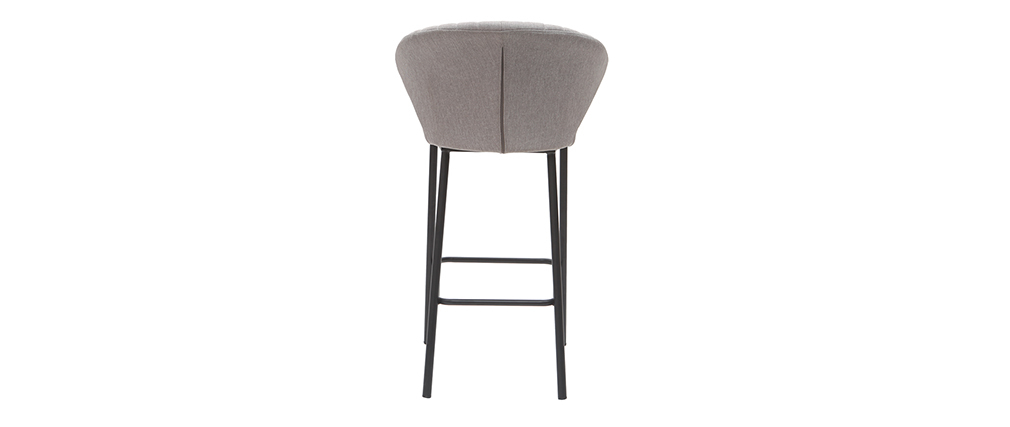 Design-Barhocker Stoff Grau 65 cm DALLY