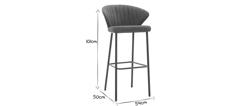Design-Barhocker Stoff Grau DALLY