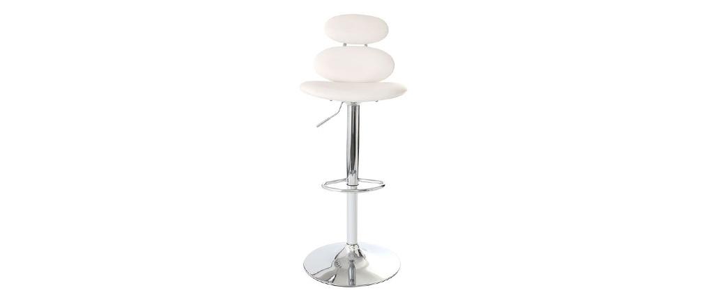 Design-Barhocker STONE Weiß