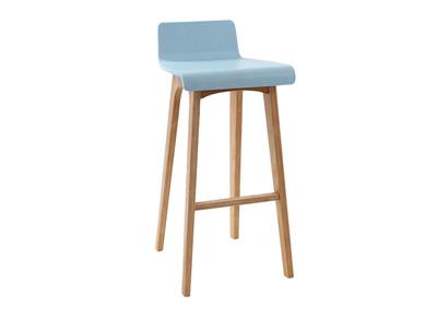 Design-Barhocker / -stuhl Holz Blau skandinavisch BALTIK