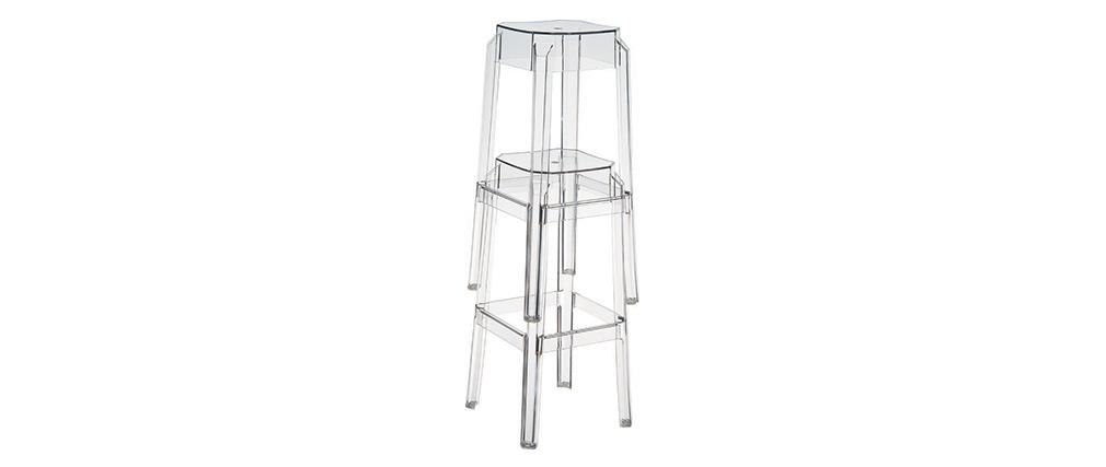 Design-Barhocker Transparent 65 cm 2er-Set CLEAR