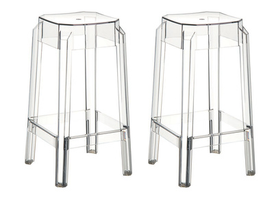 Design-Barhocker Transparent 65 cm 2er-Set CLEAR