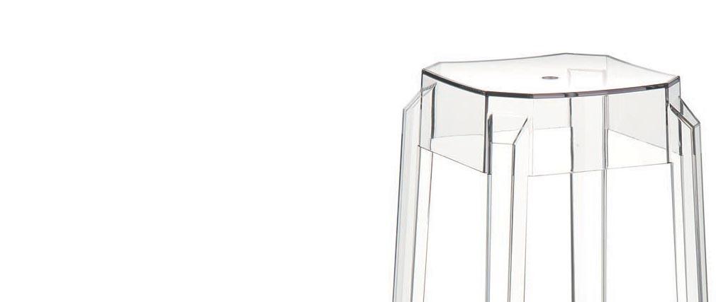 Design-Barhocker Transparent 75 cm 2er-Set CLEAR