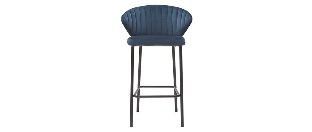 Design-Barhocker Velours Blau Ø 65 cm DALLY