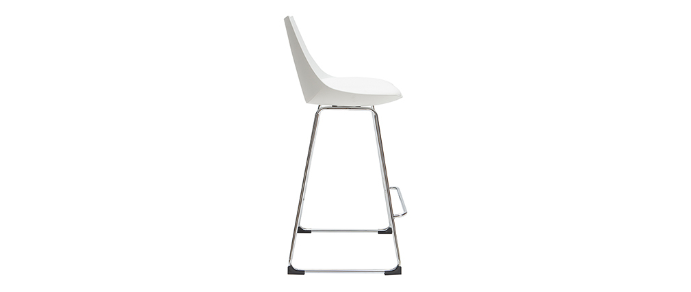 Design-Barhocker weiß 65 cm (2er-Satz) JUNE