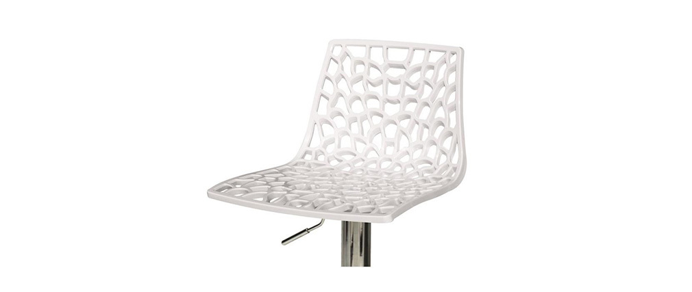 Design-Barhocker Weiß ATRAX