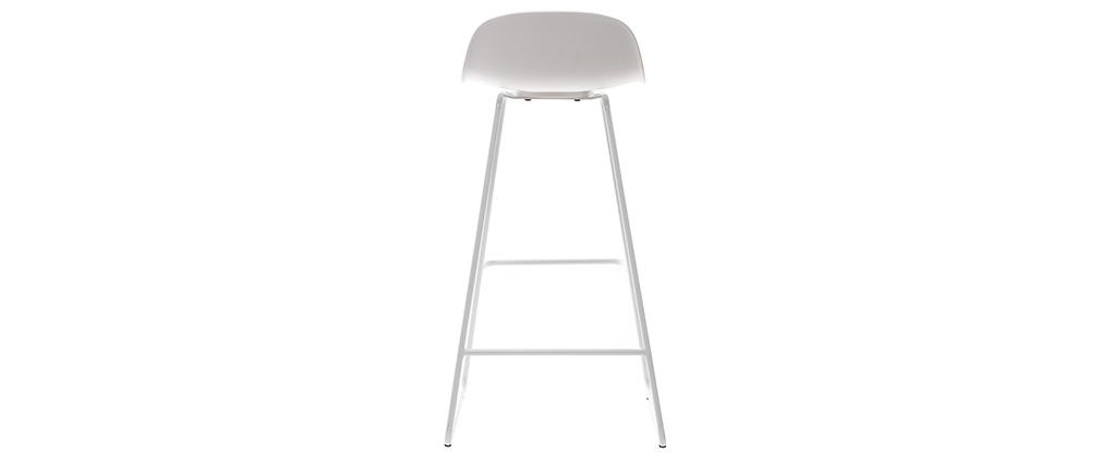 Design-Barhocker weiß H65 cm (2er-Satz) ELLA