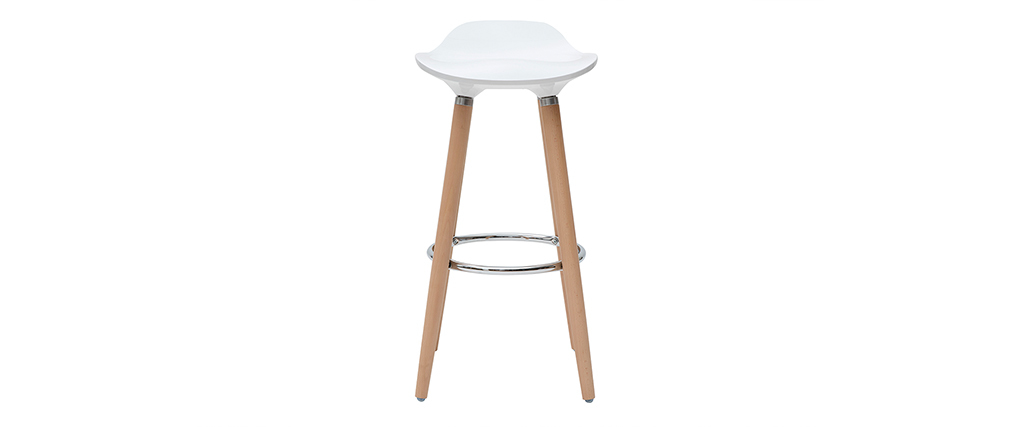 Design-Barhocker Weiß skandinavisch 2er-Set GILDA