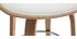Design-Barhocker Weiß und helles Holz 65 cm ARAMIS