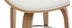 Design-Barhocker Weiß und helles Holz 65 cm WALNUT