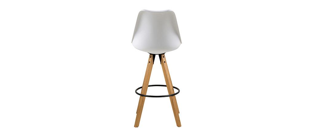 Design-Barhocker Weiß und Holz 2 Stck. NADJA