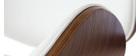 Design-Barhocker Weiß und Holz WALNUT
