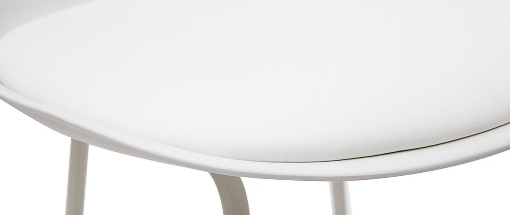 Design-Barhocker weiße Metallbeine 65 cm (2er-Satz) FRANZ