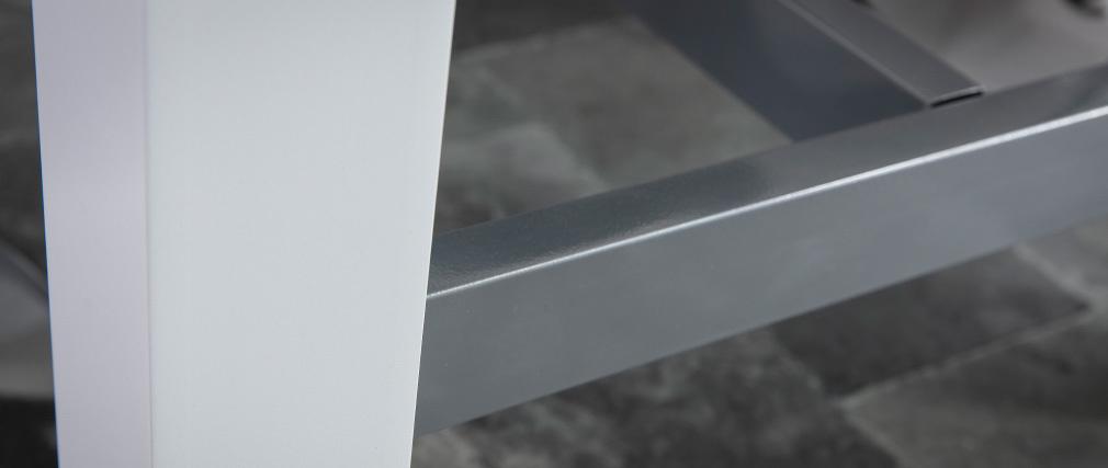 Design-Bartisch lackiert Weiß matt ALEX