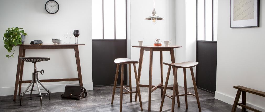 Design-Bartisch rund Nussbaumholz DEMORY