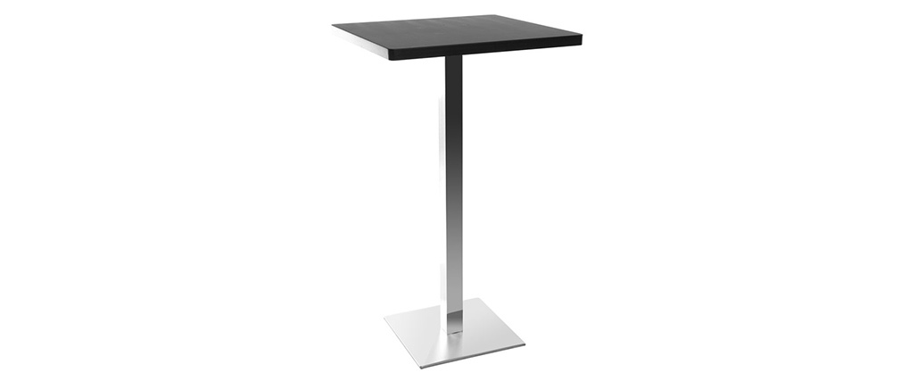 Design-Bartisch Viereck Schwarz Mittelfuß JORY