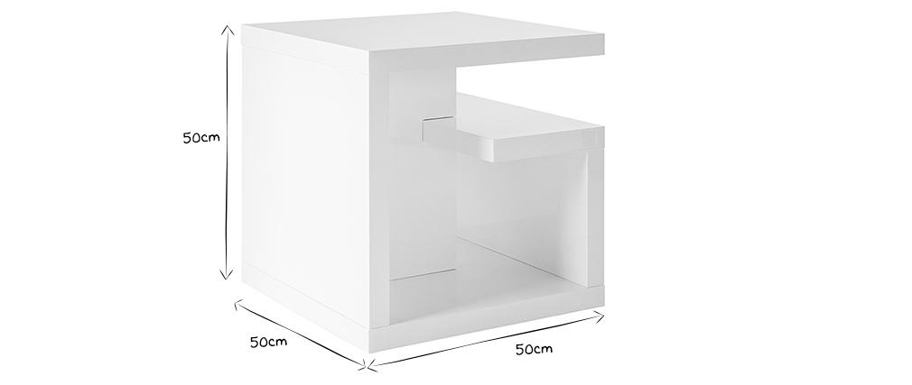 Design-Beistelltisch HALTON Weiß