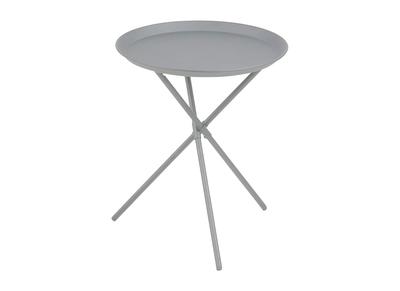 Design-Beistelltisch Metall Grau MIKADO