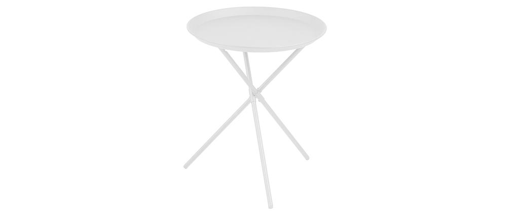 Beistelltisch metall weiß  Design-Beistelltisch Metall Weiß MIKADO - Miliboo