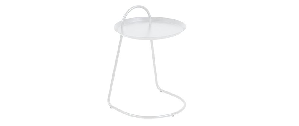 Beistelltisch metall weiß  Design-Beistelltisch Metall Weiß MOVE - Miliboo