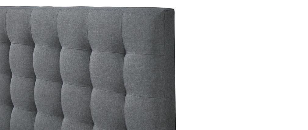 Design-Bett gepolstert Stoff Hellgrau 160 x 200 cm DANAE