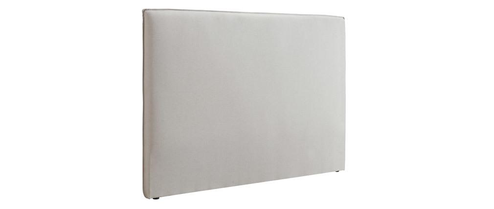 Design-Bettkopfteil 156 aus beigem Stoff ATHENA