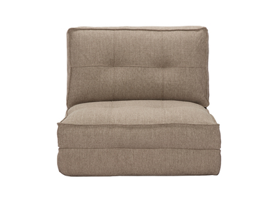 Design-Bettsessel verstellbar Taupe SALLY