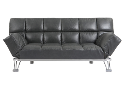 Design-Bettsofa aus grauem Rindsleder MANHATTAN