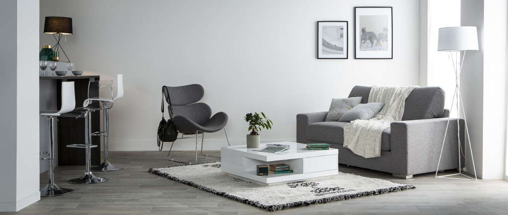 Design-Bettsofa HAMILTON Grau