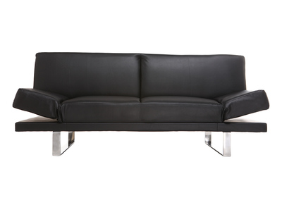 Design-Bettsofa PU Schwarz ATLANTA