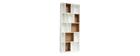 Design-Bücherregal anpassbar Weiß und Eiche JAZZ