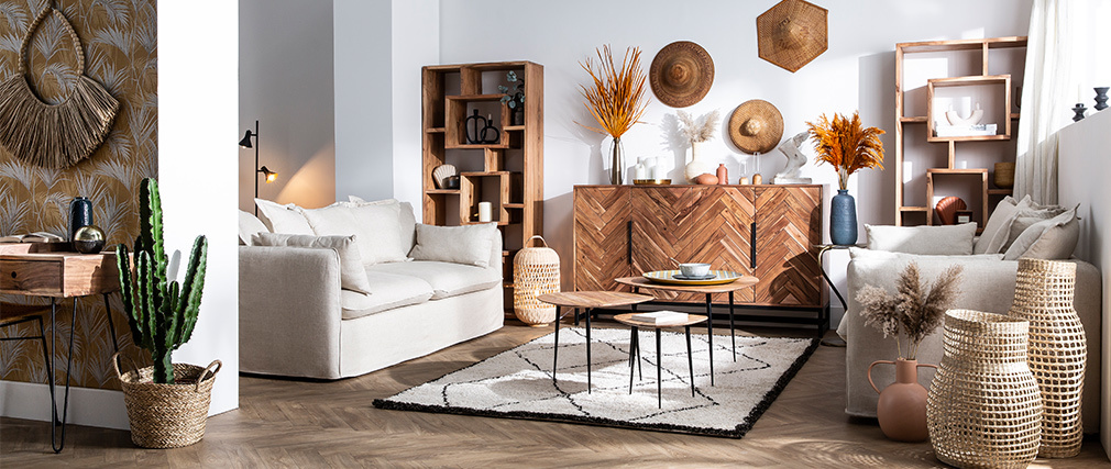 Design-Bücherregal aus Akazienholz 80 cm CHAPMAN