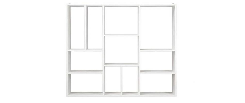 Design-Bücherregal geschachtelt aus Holz Weiß CASYM